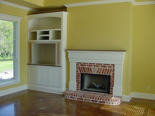 Custom Made Entertainment Center And Mantle