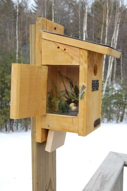 Custom Made Blue Bird House With Side View