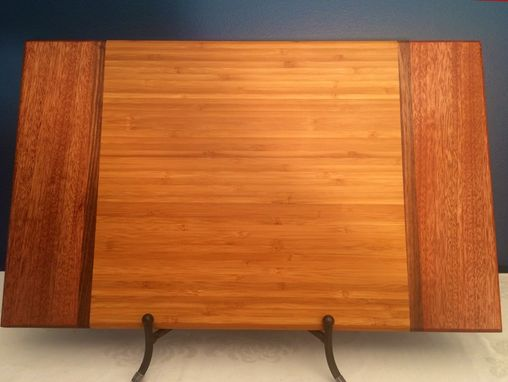 Custom Made Eco-Friendly Bamboo, Cherry, And Walnut Cutting Board