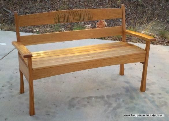Awe Inspiring Custom White Oak Garden Bench By Bedre Woodworking Creativecarmelina Interior Chair Design Creativecarmelinacom