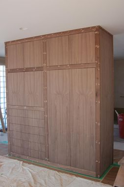 Custom Made Sequenced Matched Walnut Room Divider