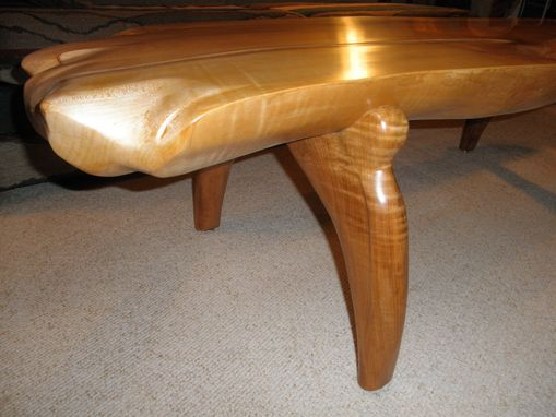 "Custom Made Hard Rock Maple Coffee Table 68"" X 18"" X 18"""