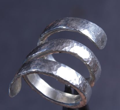 Custom Made Sterling Silver Double Coil Ring