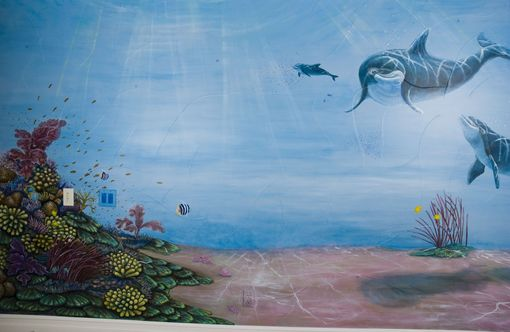 Custom Made Bell Underwater World Mural