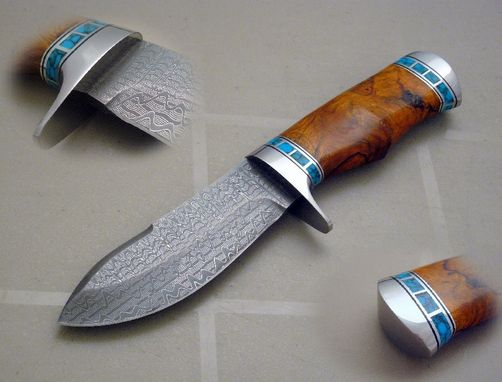 Custom Made Damascus Skinner Knife