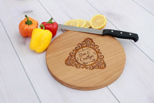 Custom Made Personalized Cutting Board, Engraved Cutting Board, Custom Wedding Gift – Cbr-Wo-Bencaitlyn