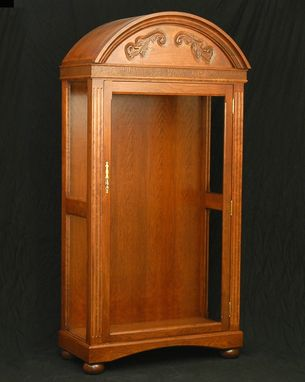 Custom Made Cherry Display Armoire