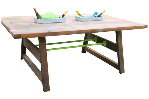 Custom Made Custom Reclaimed Cedar Picnic Dining Table