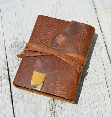 Custom Made Handmade Leather Bound Journal Western Adventure Travel Diary Outdoors Notebook