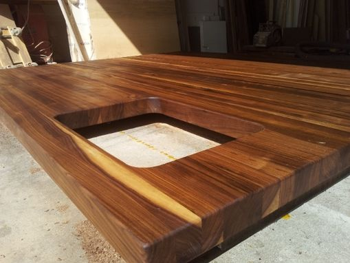 Custom Made Thick Walnut Top For Kitchen Island