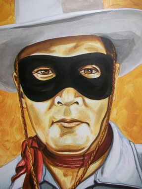 Custom Made Acrylic On Board Portrait For A Mural: Cowboys 10
