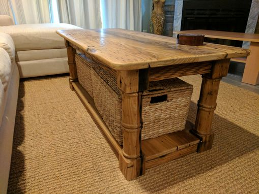 Custom Made Reclaimed Chestnut Coffee Table