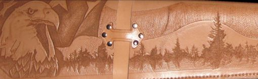 Custom Made Tooled Leather Rifle Scabbard