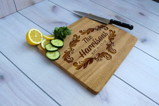 Custom Made Personalized Cutting Board, Engraved Cutting Board, Custom Wedding Gift – Cb-Wo-Harrison