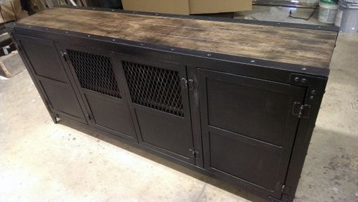 Custom Made Vintage Industrial Console
