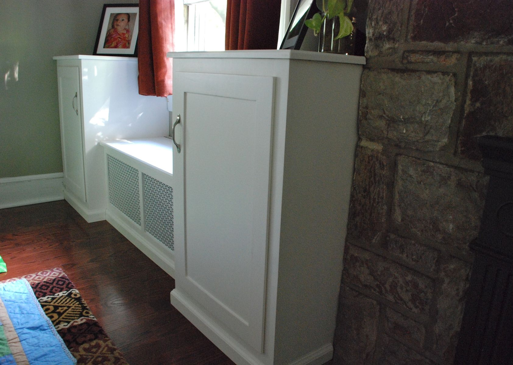 Hand Crafted Window Seat Wall Unit by Sheppards Custom Woodworking ...