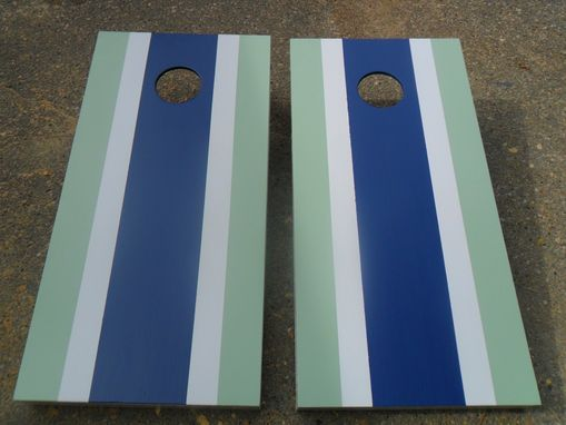 Custom Made Custom - Personalized Stripe Cornhole Baggo Board Game Sets