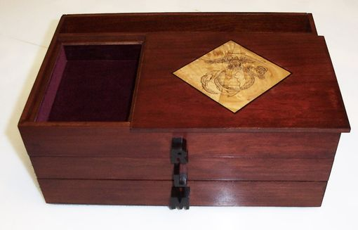 Custom Made Watch Box With Usmc Emblem