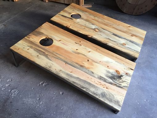 Custom Made Beetle Kill Pine Cornhole / Bag Boards