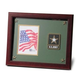 Custom Made Go Army Medallion Picture Frame With Stars