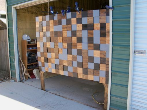 Custom Made King Size Wood Wall Art/Headboard