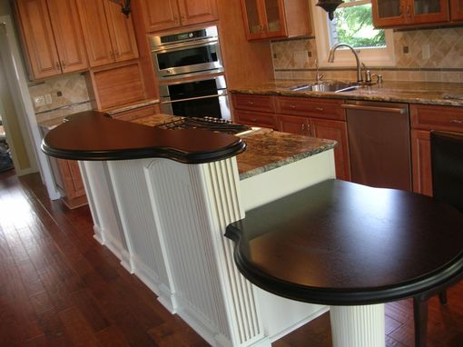 Custom Made Wenge Raised Bar And Breakfast Table