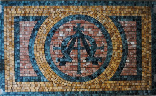 Custom Made Alpha And Omega Mosaic