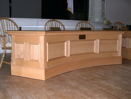 Custom Curved Desk And Podium By Michael Humphries