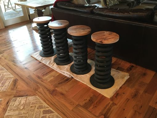 Custom Made Truck Coil Spring Bar Stools