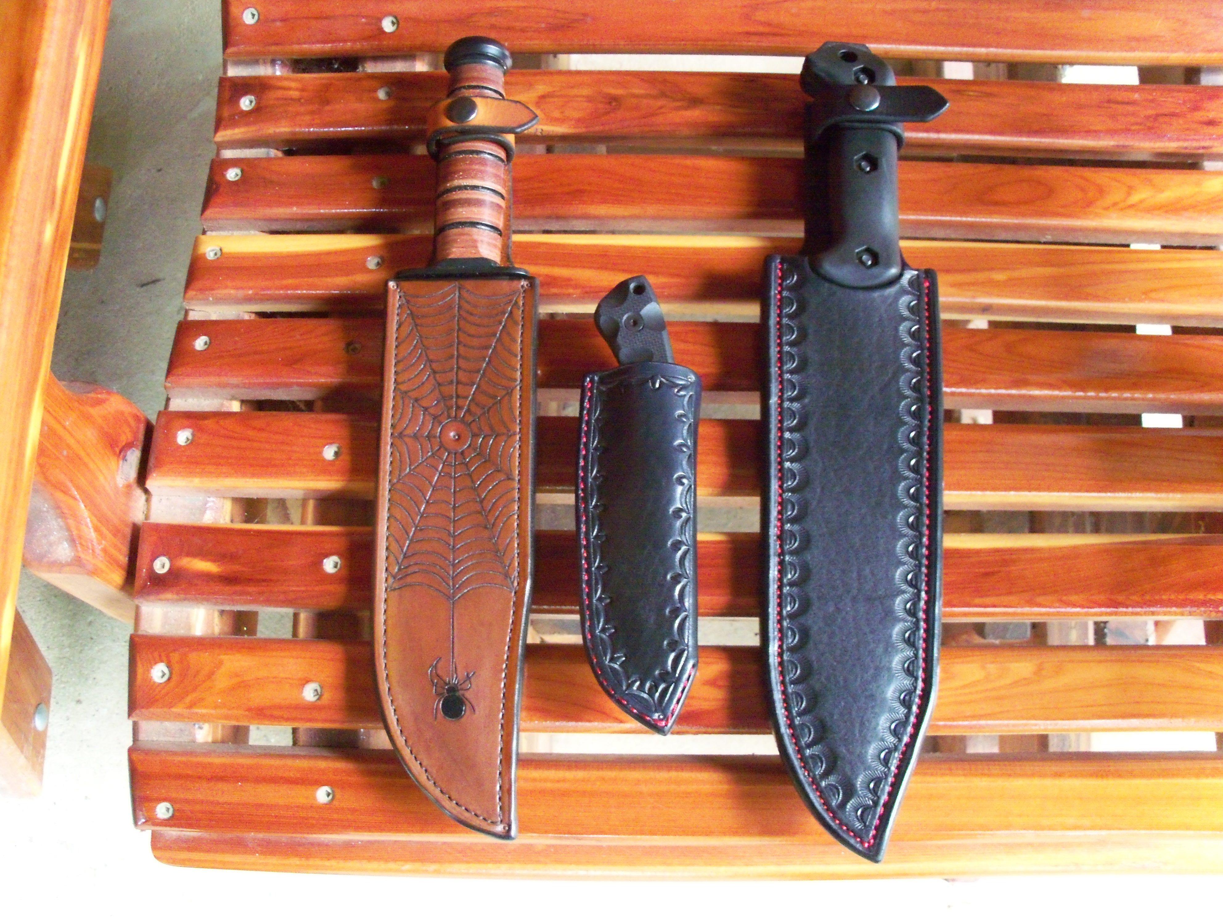 Handmade Custom Made Knife Sheath By Hubbard Leather Custommade Com