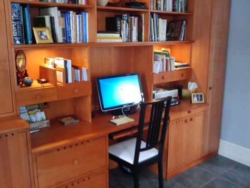 Custom Made Home Office With Inlay Detail