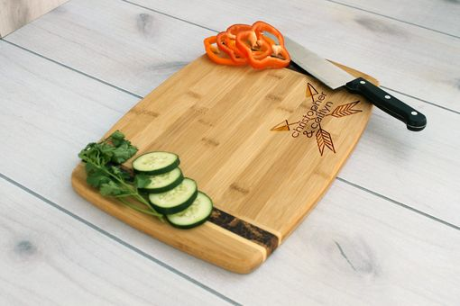 Custom Made Personalized Cutting Board, Engraved Cutting Board, Custom Wedding Gift – Cb-Bamm-Christophercaitlyn