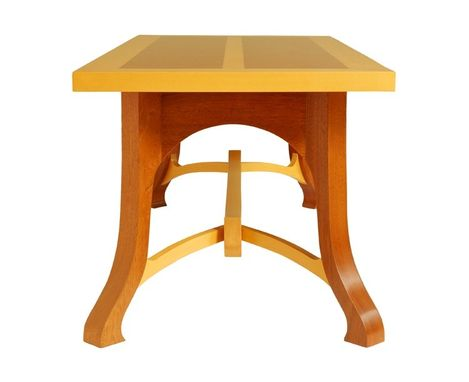 Custom Made Mahogany Coffee An Yellow Cedar Table
