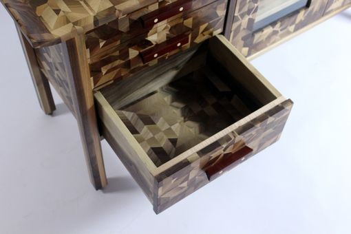 Custom Made Mosaic Media Cabinet