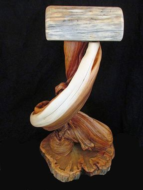Custom Made Western Saddle Display Stand, Made From Solid Twisted Juniper Wood And Blue Pine