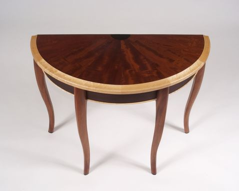 Custom Made Mahogany Demilune Table