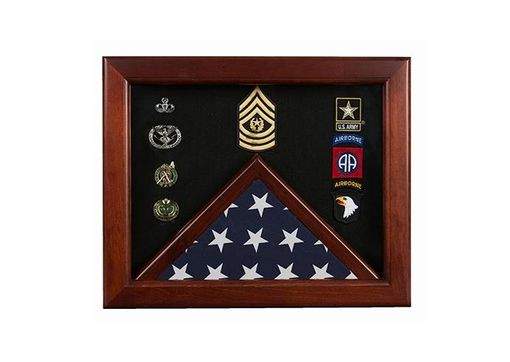 Custom Made Master Sergeant Flag Display Cases - Master Sergeant Gift