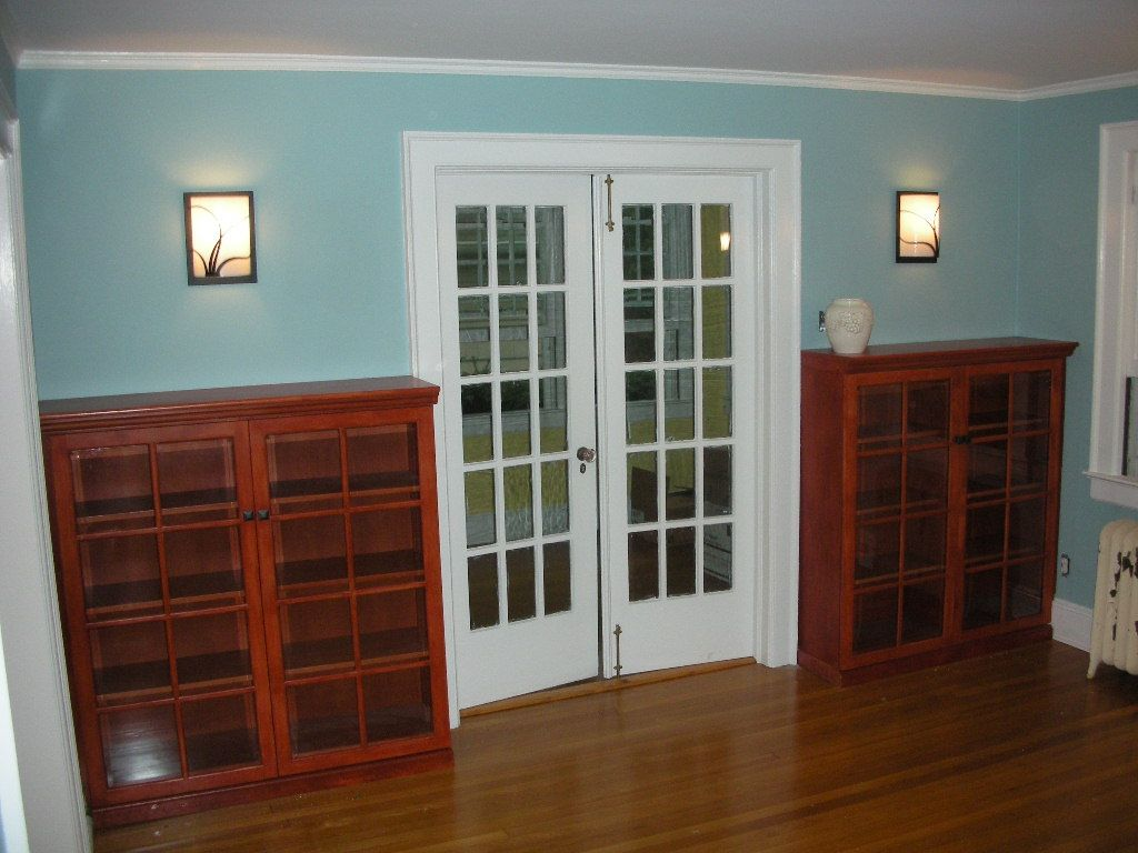 Custom Bookcases With Glass Doors By Hammer Time Studio S