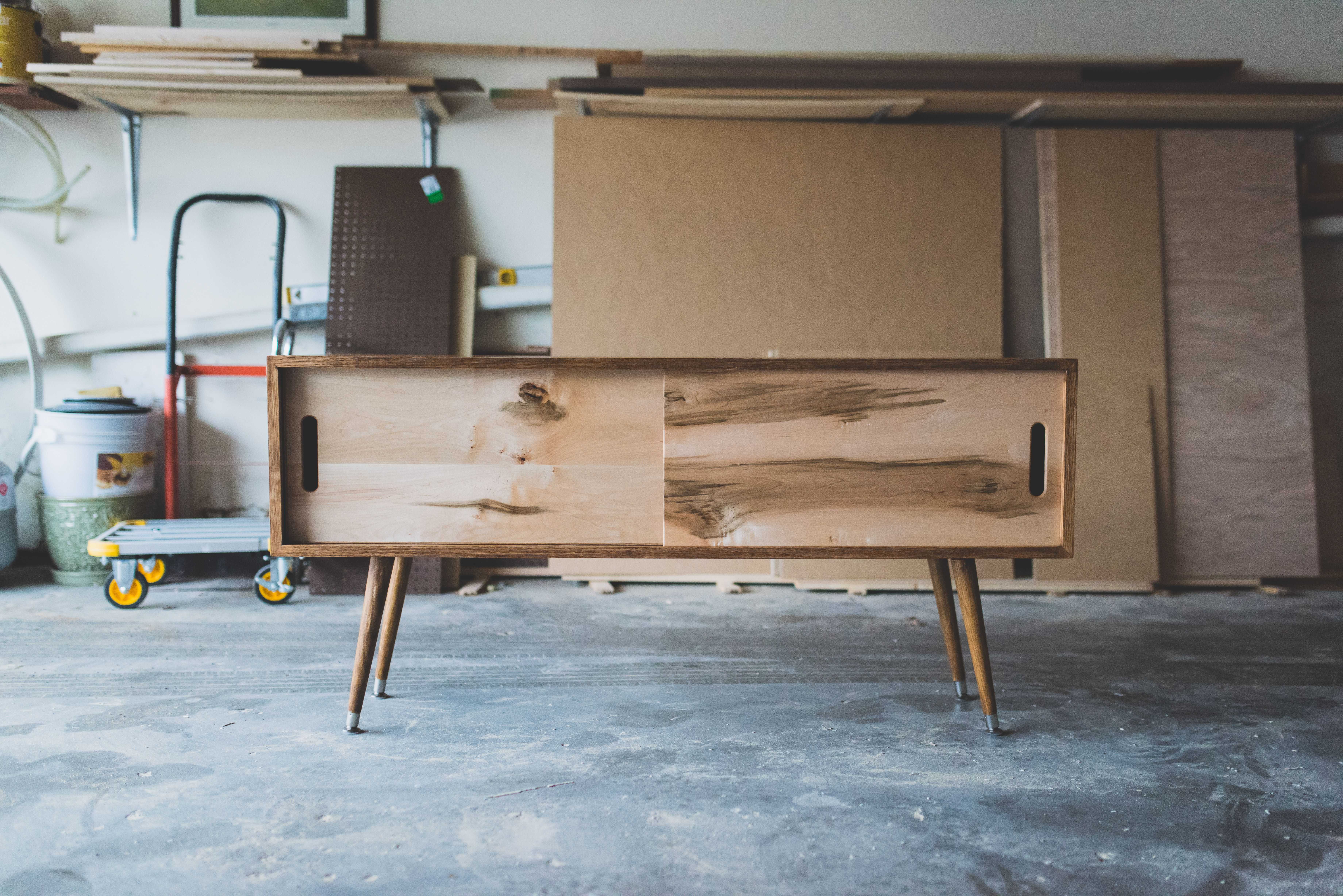 Hand Made Mid Century Modern Tv Stand By Kaashi Furniture