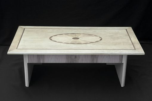 Custom Made Coffee Table With Flush Push-To-Open Drawer
