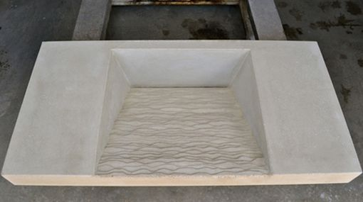 Custom Made Custom Concrete Vanity Top