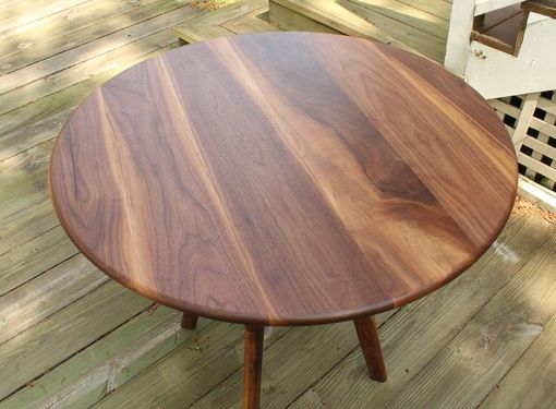 Custom Made Round Collapsible Buffet Dining Table In Walnut