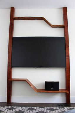 Custom Made Live Edge Media Center