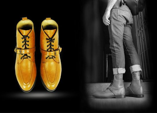 Custom Made Rimbaud Moc Toe Ankle Goodyear Welted Boots.