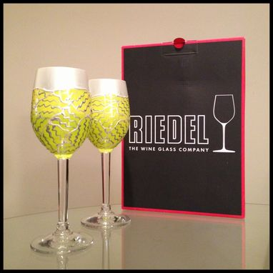 Custom Made Hand Painted Wine Glasses