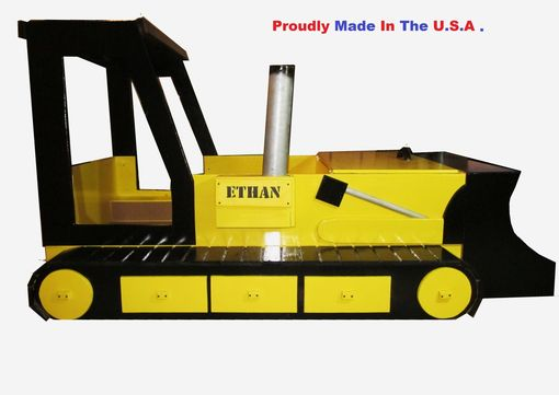 Custom Made Bulldozer Bed Toddler To Twin Convertible