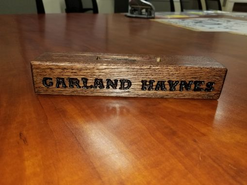 Custom Made Executive Desk Name Plaque