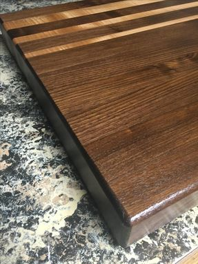 Custom Made Black Walnut And Oak Cutting Board