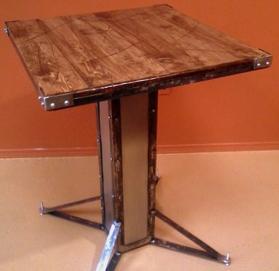 Custom Made Modern Industrial / Vintage Style Bistro Table
