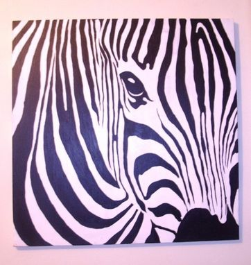 Custom Made Custom Made Zebra Acrylic Painting